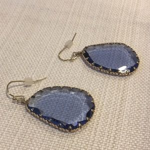 Anthropologie Amethyst and Gold Earrings